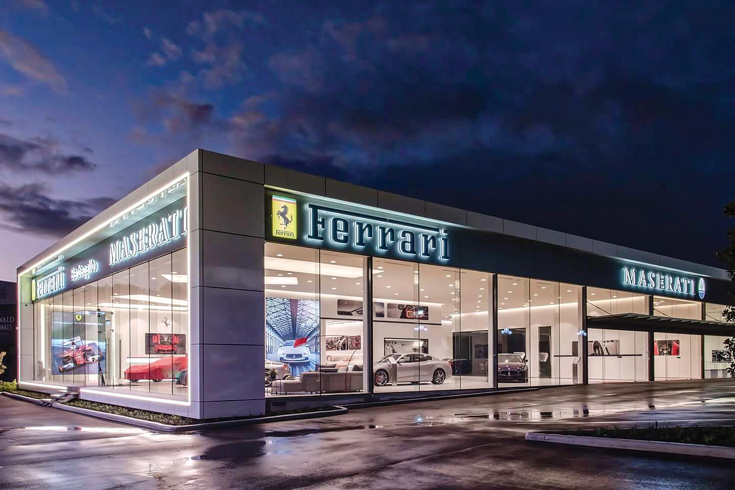 Earthworks completed at Ferrari showroom